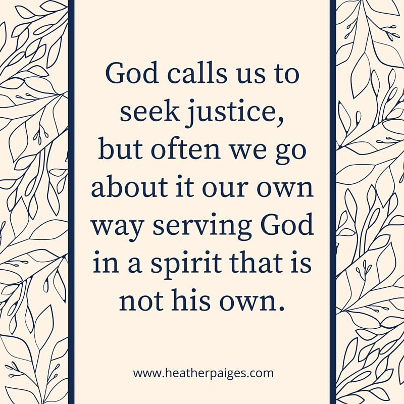We can trust that his plan is greater than any we could conjure up and rest in doing his work his way. God does not demand mindless obedience, he promises to orient our minds with his... heatherpaiges.com